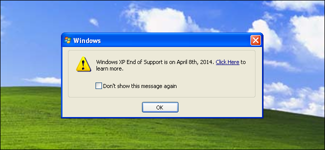 ... to start nagging Windows XP users about April 8 end-of-support date